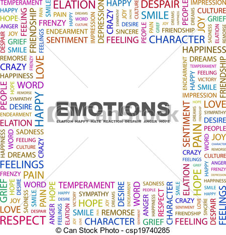 Emotions clipart remorse Concept EMOTIONS concept collage illustration