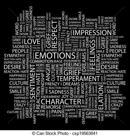 Emotions clipart remorse Cloud Word cloud csp19563641 EMOTIONS