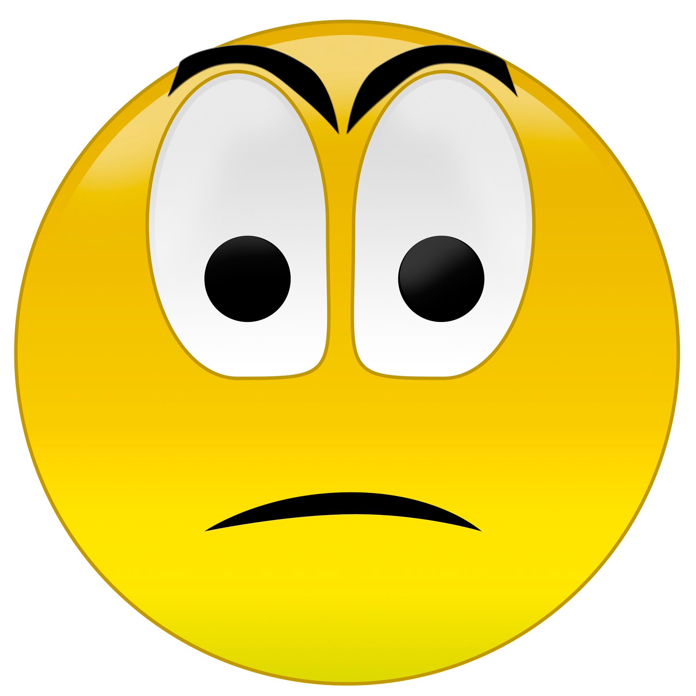 Smileys clipart unhappy Art Clip Emotions  Faces