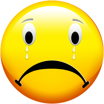 Emotions clipart sad face Smiley Tear Clip  Free