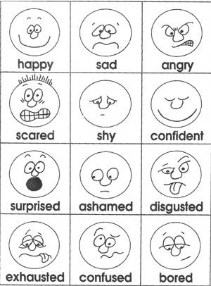 Emotional clipart teacher Ideas Teacher Emotions cards from
