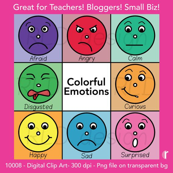 Emotional clipart teacher The Colorful Digital Clip Art