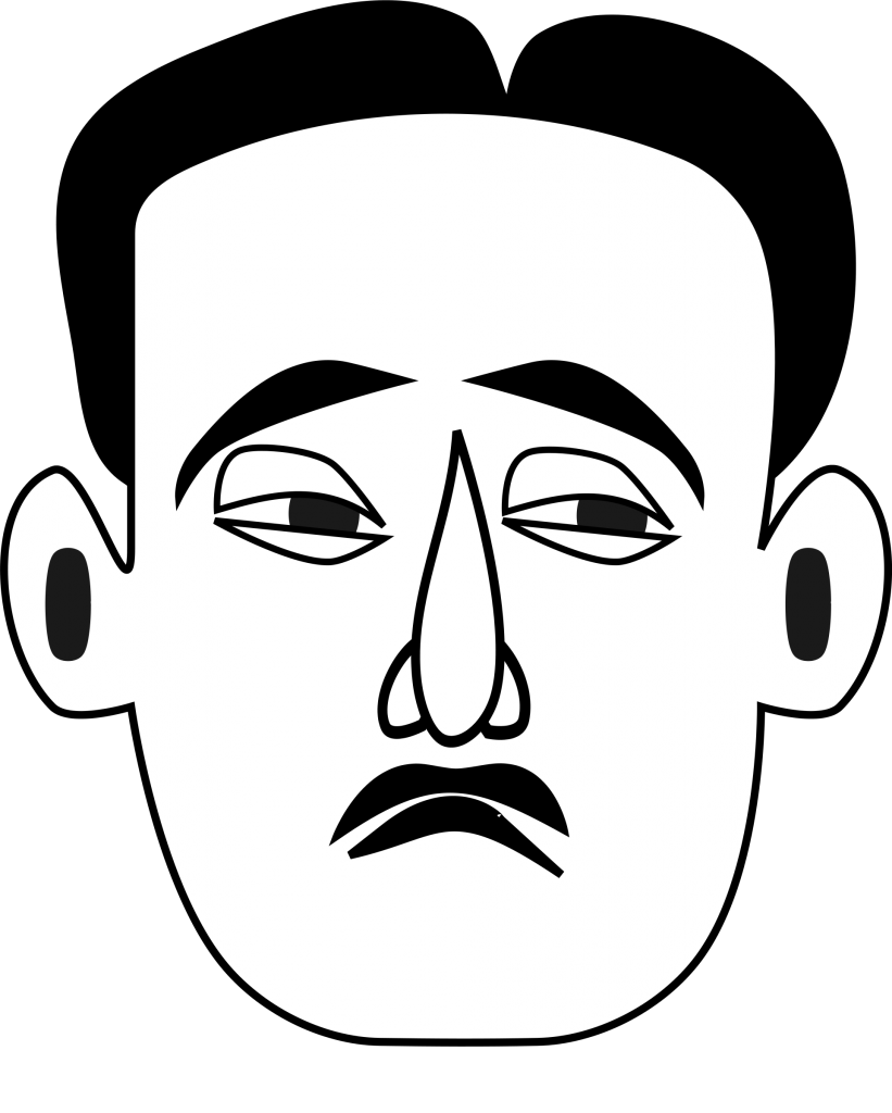 Emotional clipart unhappy person Clipart person face People clipart