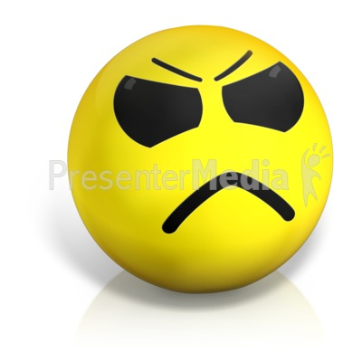 Emotional clipart doubt PowerPoint  Ball and Angry