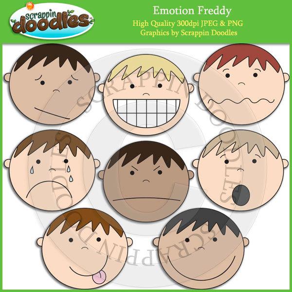 Feeling clipart emotional wellness Emotion Art Etsy Clip Freddy