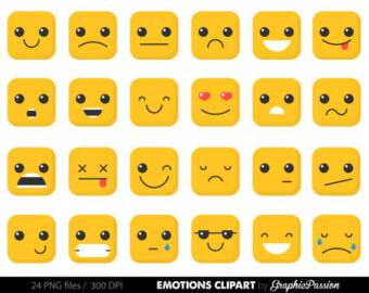 Emotions clipart Stickers Planner Erin Emoji Happy