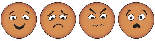 Feelings clipart happy sad face Scared Sad Sad Scared Feeling