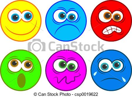 Emotions clipart anger Emotions Clip Illustrations 661 clip