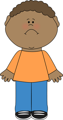 Sadness clipart sad little boy #1