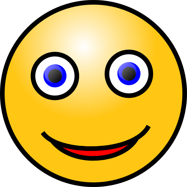 Moving clipart smiley face #3