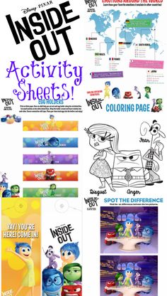 Emotions clipart birthday chart Disney For Activity OUT Sheets