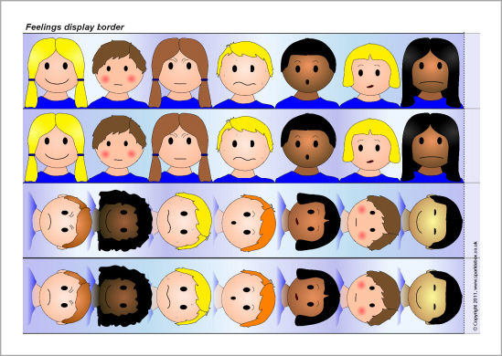 Emotions clipart border Primary Feelings Printables and (SB4484)