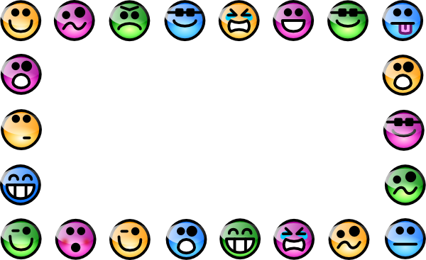 Emotions clipart border Download Smiley Clip on Face