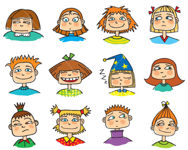 Emotions clipart childrens faces Stock Come Surveyor 5460091 Says