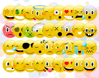 Emotions clipart collage Emoji 35 Download Faces Emoji
