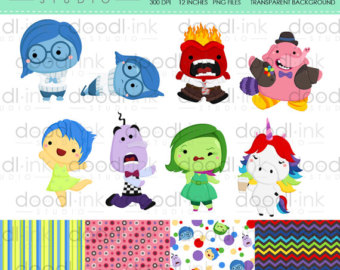 Emotions clipart collage DOWNLOAD INSTANT clipart Clip Movie