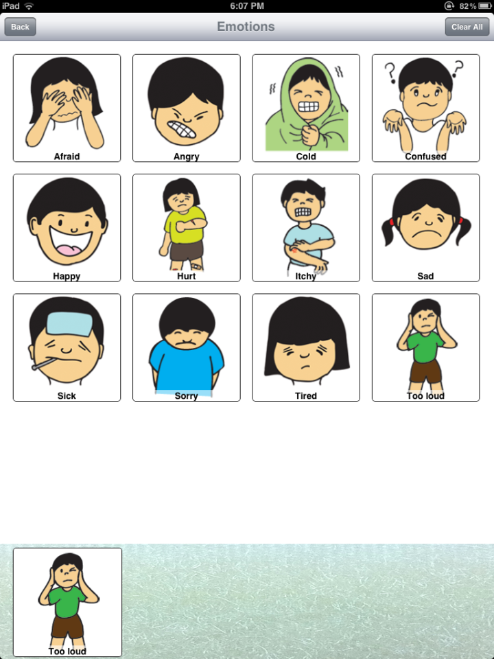 Emotions clipart communication Effective communicate the app AAC