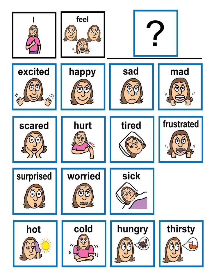 Emotions clipart communication And with flash cards difficulty