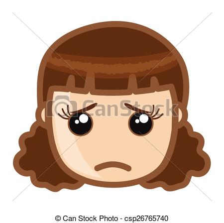 Emotions clipart disappointed face Sad Face csp26765740 Face Vector