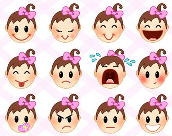 Baby clipart emotion Expressions with for clip CLIP