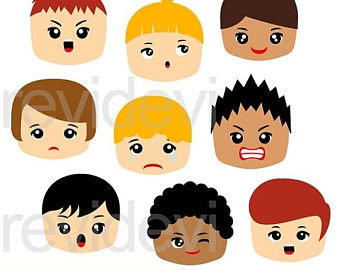 Emotions clipart question Clip Etsy Emotion face clipart