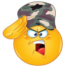 Emotions clipart exhausted Salute emoticon positive soldier some