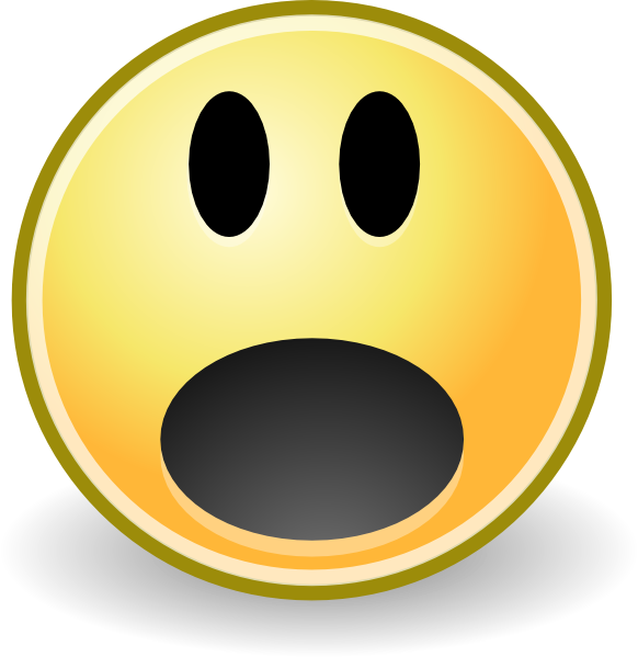 Smiley clipart surprised Tango Of Shocked Face clip