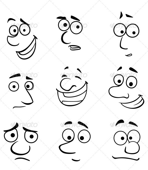 Emotions clipart face reaction On Cartoon 25+ ideas with