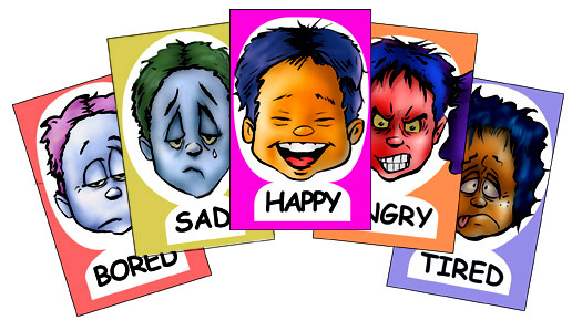 Feelings clipart faces poster Faces faces chart Feeling poster