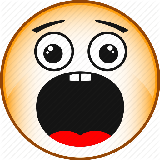 Emotions clipart fright Scared face face icon scared