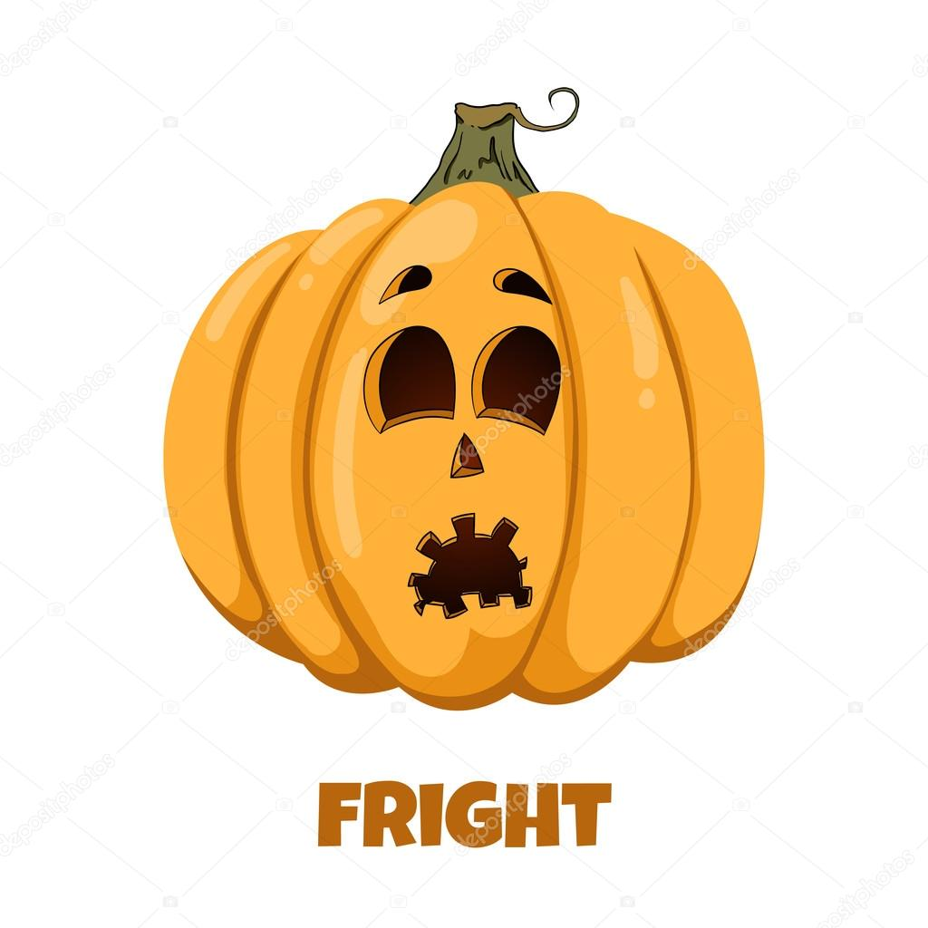 Emotions clipart fright — Halloween Emotions Vector