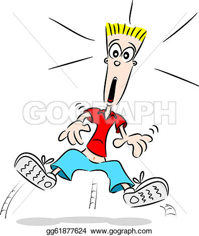 Emotions clipart fright Guy look EPS A cartoon