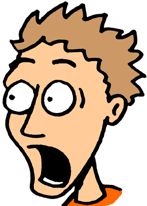 Shocking clipart frightened face World frightened Emotions Perfect Clip