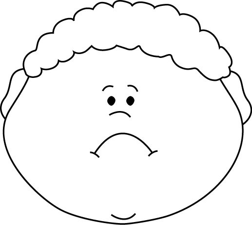 Feelings clipart black and white Face and White Face Black