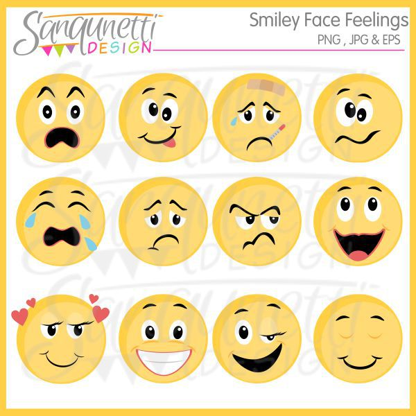 Emotions clipart happy face Feelings young teaching ones faces