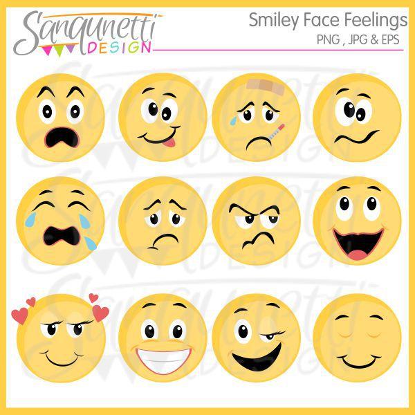 Feelings clipart emoticon Clipart faces smiley Smiley feelings