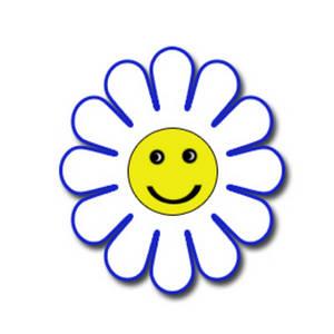 Blue Flower clipart smiley flower Art pdclipart images Happy com