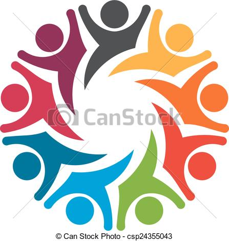 Emotions clipart happy group Group Team exciting emotions EPS
