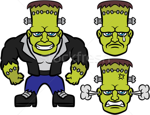 Emotions clipart happy sad Vector (digitaljoni) Frankenstein Emotions vector
