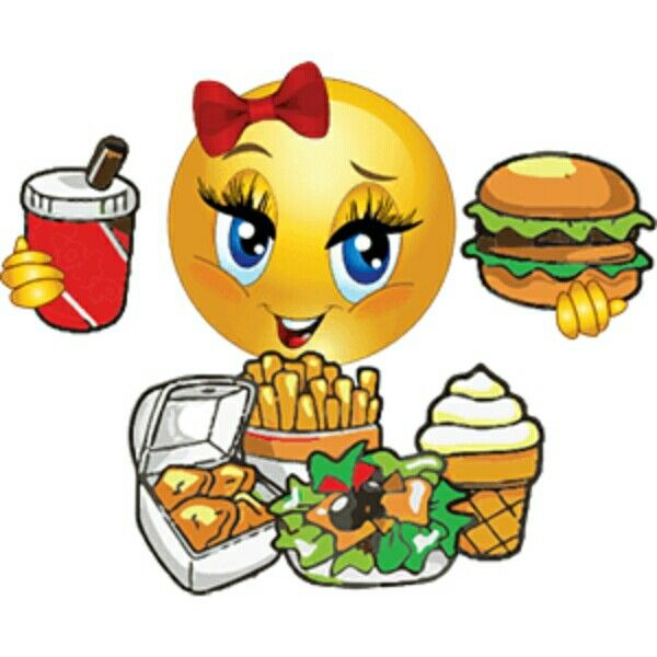 Emotions clipart hungry On Smiley emoji drinking eating
