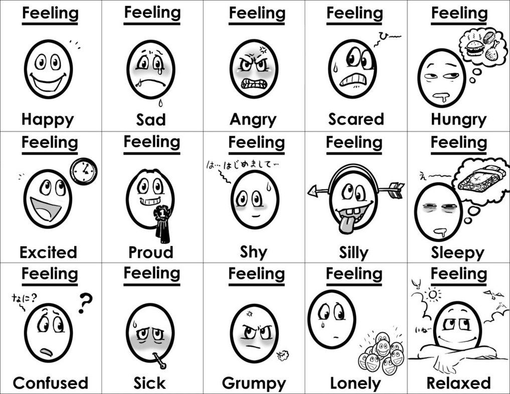 Emotions clipart hungry Free Feelings gladlad on on