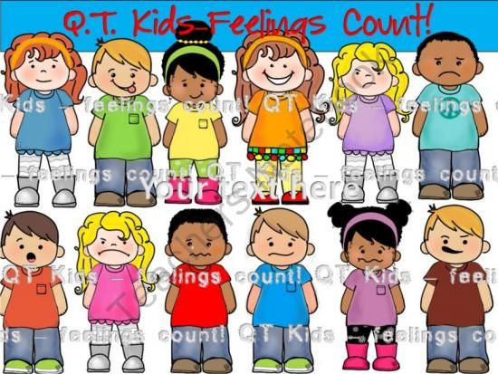 Emotions clipart matter Commercial Feelings QT~Kids Personal and