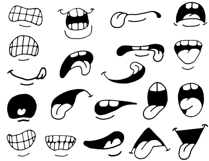 Anime clipart eye mouth Mouth cliparts Clipart Eyes Cartoon