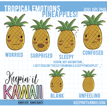 Emotions clipart not Emotions Emotions KeepinItKawaii Pineapple Set