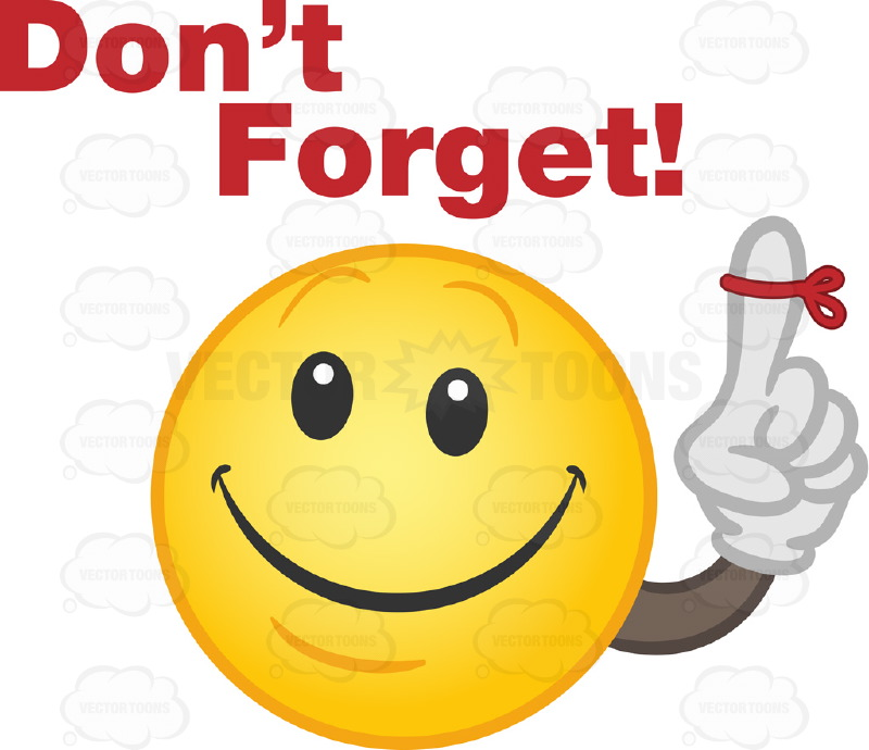 Emotions clipart not Dont Cliparts Forget Dont Forget