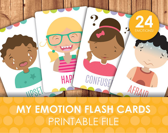 Feelings clipart printable Feel? How Printable Emotions Flashcards