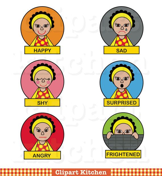 Emotions clipart reflective  Etsy My on images