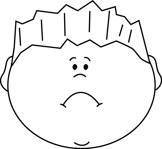 Sad clipart black boy #2