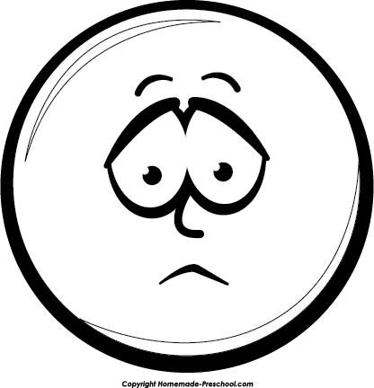 Smileys clipart frown Clipart clipart faces com kid