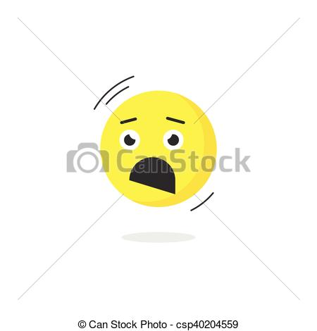 Emotions clipart scared face Emoji Clipart emotion Vector Fear